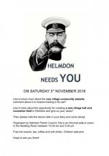 Helmdon Needs You! - Walk in community event, from 10:30am until 3:30pm