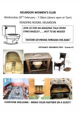 "Helmdon Womens Club ""History of Privies through the Ages"""