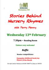 "WI Evening - ""Stories Behind Nursey Rhymes""  with Terry Penny"