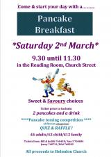 Join us for a Pancake Breakfast on 2nd March