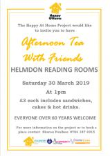 Afternoon Tea with Friends - Over 60s event