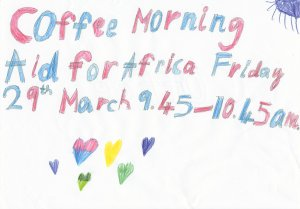 Fundraising coffee morning - Aid for Africa, Helmdon School Hall, this Friday 09:45-10:45. Everyone welcome.