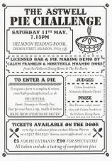 The Astwell Pie Challenge at Helmdon Reading Room, 7:15pm