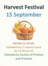 Harvest Festival at Helmdon Church, 15 Sept, 11:15 onwards - All Welcome