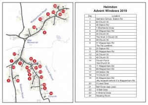 Helmdon Advent Windows Map 2019 now available to download