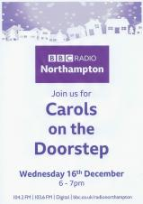 Carols on the Doorstep - Wednesday 16th December 6pm